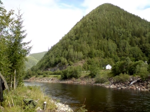 Gaula Salmon River at Rognes. Norway.
