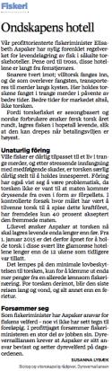 Faksimile Stavanger Aftenblad 9.jan 2015